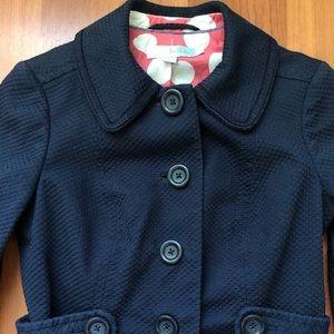 BODEN Navy Blue Cotton Blazer Jacket Size 2 🇬🇧